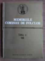 Memoriile comisiei de folclor (tomul 2)
