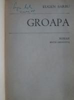 Eugen Barbu - Groapa (cu semnatura autorului)