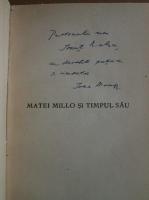 Ioan Massoff - Matei Millo si timpul sau (cu autograful autorului)