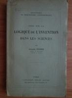 Jacques Picard - Essai sur la logique de l'invention dans les science