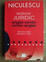 Ronald Lister - Dictionar juridic englez-roman, roman-englez