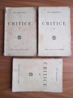 Titu Maiorescu - Critice (3 volume, editie veche)