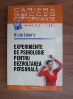 comperta: Alain Lieury - Experimente de psihologie pentru dezvoltarea personala