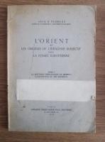 comperta: Aram M. Frenkian - L'Orient et les origines de l'idealisme subjectiv dans la pensee europeenne (1946)