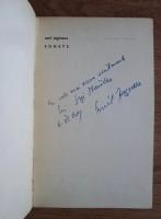 Emil Zegreanu - Sonete (cu autograful si dedicatia autorului)