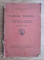 comperta: R. Rosetti - Familia Rosetti. Coboratorii moldoveni ai lui Lascaris Rousaitos (1938)