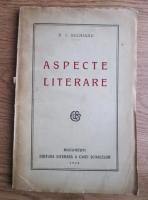 Anticariat: D. I. Suchianu - Aspecte literare (1928)