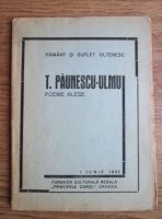 Anticariat: T. Paunescu-Ulmu - Poeme alese (1934)