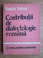 Romulus Todoran - Contributii de dialectologie romana
