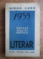 Miron Suru - 1935 literar. Sinteza biblio-critica (1937)