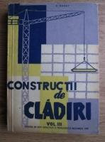 S. Haret - Constructii de cladiri. Volumul 3: Lucrari de finisaj, drumuri, instalatii. Manual pentru scolile tehnice de maistri