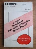 Europe, Nr. 138, Juin 1957: Madame Bovary 1857-1957