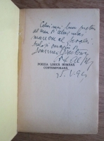 Alexandru C. Ionescu - Poezia lirica romana contemporana (1941, cu autograful si dedicatia autorului)