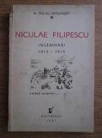 Anticariat: N. Polizu-Micsunesti - Niculae Filipescu. Insemnari (1937)