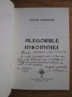 comperta: Marin Codreanu - Alegoriile insomniei (cu autograful si dedicatia autorului)
