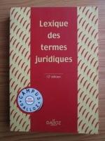 Raymond Guillien - Lexique des termes juridiques