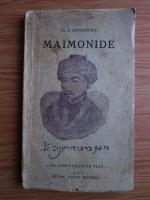I. Ginzbourg - Maimonide (1935)