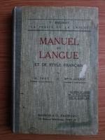 F. Brunot - Manuel de langue et de style francais (1925)