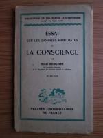 comperta: Henri Bergson - Essai sur les donnees immediates de la conscience (1946)
