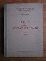 Maria Platon - Curs de istoria literaturii romane (anul 2, partea 1, 1962)