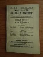 Revista de studii sociologice si muncitoresti (nr. 36, iunie 1943)