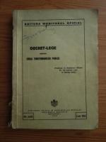 Decret-lege pentru codul functionarilor publici (1942)