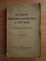 Anticariat: D. Badareu - Un systeme materialiste metaphysique au XIXe siecle. La philosophie de Basile Conta (1924)