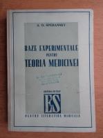 Anticariat: A. D. Speransky - Baze experimentale pentru teoria medicinei (1948)