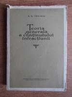 A. N. Trainin - Teoria generala a continutului infractiunii