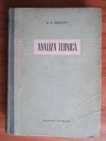 A. P. Grosev - Analiza tehnica