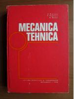 Anticariat: A. Ripianu - Mecanica tehnica