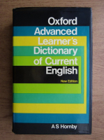 Anticariat: A. S. Hornby - Oxford advanced learner's dictionary of current english
