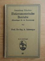 Anticariat: A. Schwaiger - Elektromotorische betriebe (1922)