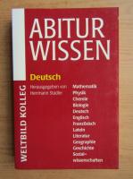 Anticariat: Abitur Wissen. Deutsch