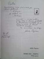 Adela Popescu - Intre noi-timpul (cu autograful autoarei)