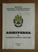 Admiterea in Academia Tehnica Militara