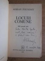 Anticariat: Adrian Paunescu - Locuri comune. 202 poezii noi (cu autograful si dedicatia autorului)