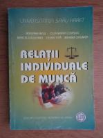 Anticariat: Adriana Elena Belu - Relatii individuale de munca