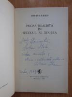 Anticariat: Adriana Iliescu - Proza realista in secolul al XIX-lea (cu autograful autoarei)