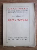 Anticariat: Al. Badauta - Note literare (editie interbelica)
