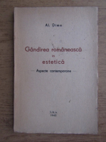 Anticariat: Al. Dima - Gandirea romaneasca in estetica (1943)