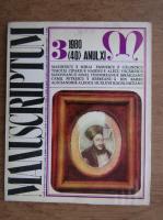 Al. Oprea - Revesta Manuscriptum (nr. 40, anul 1980)