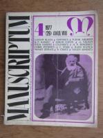 Al. Oprea -  Revista Manuscriptum (nr. 29, anul 1977)