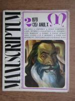 Al. Oprea - Revista Manuscriptum (nr. 35, anul 1979)