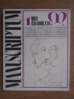 Al. Oprea -  Revista Manuscriptum (nr. 50, anul 1983)