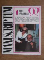 Al. Oprea - Revista Manuscriptum (nr. 78, anul 1990)