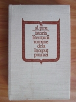 Anticariat: Al. Piru - Istoria literaturii romane de la inceput pana azi