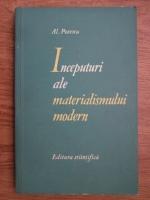 Anticariat: Al. Posescu - Inceputuri ale materialismului modern