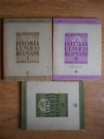 Al. Rosetti - Istoria limbii romane (1940, 3 volume)