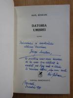 Anticariat: Alex. Rudeanu - Datoria umbrei (cu autograful autorului)